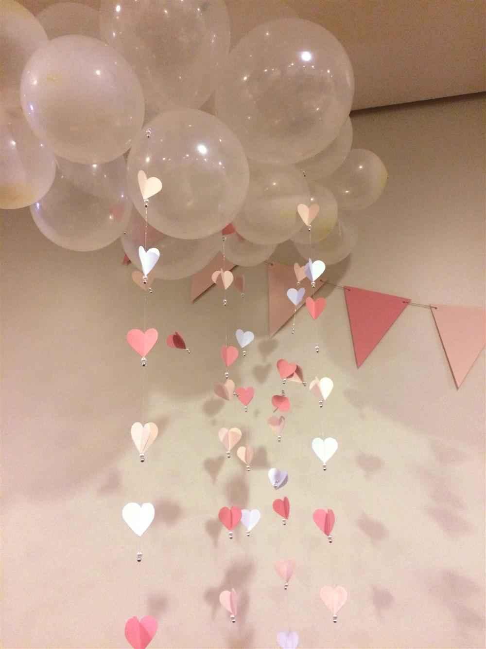 decoração com balões de nuverm chuva de amor