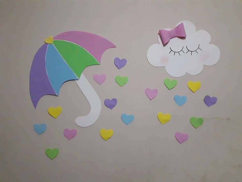 chuva de amor em papel