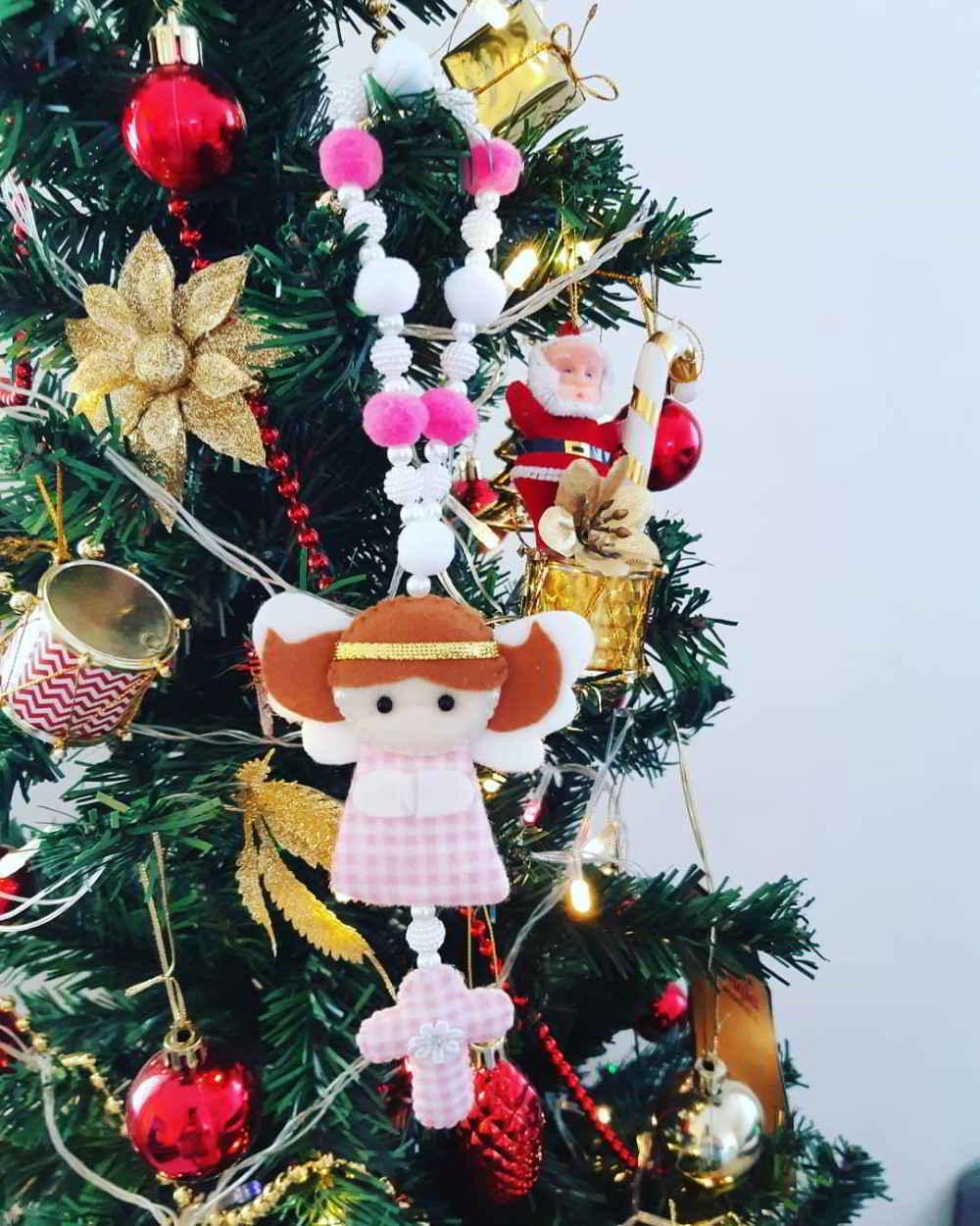 anjinho de feltro decoração de natal