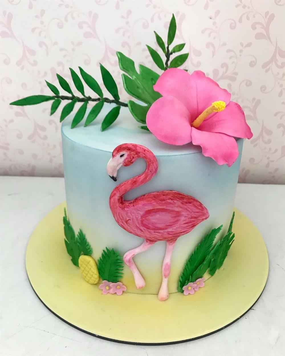 bolo realista flamingo