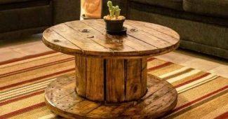 ideias para decorar carretel de madeira