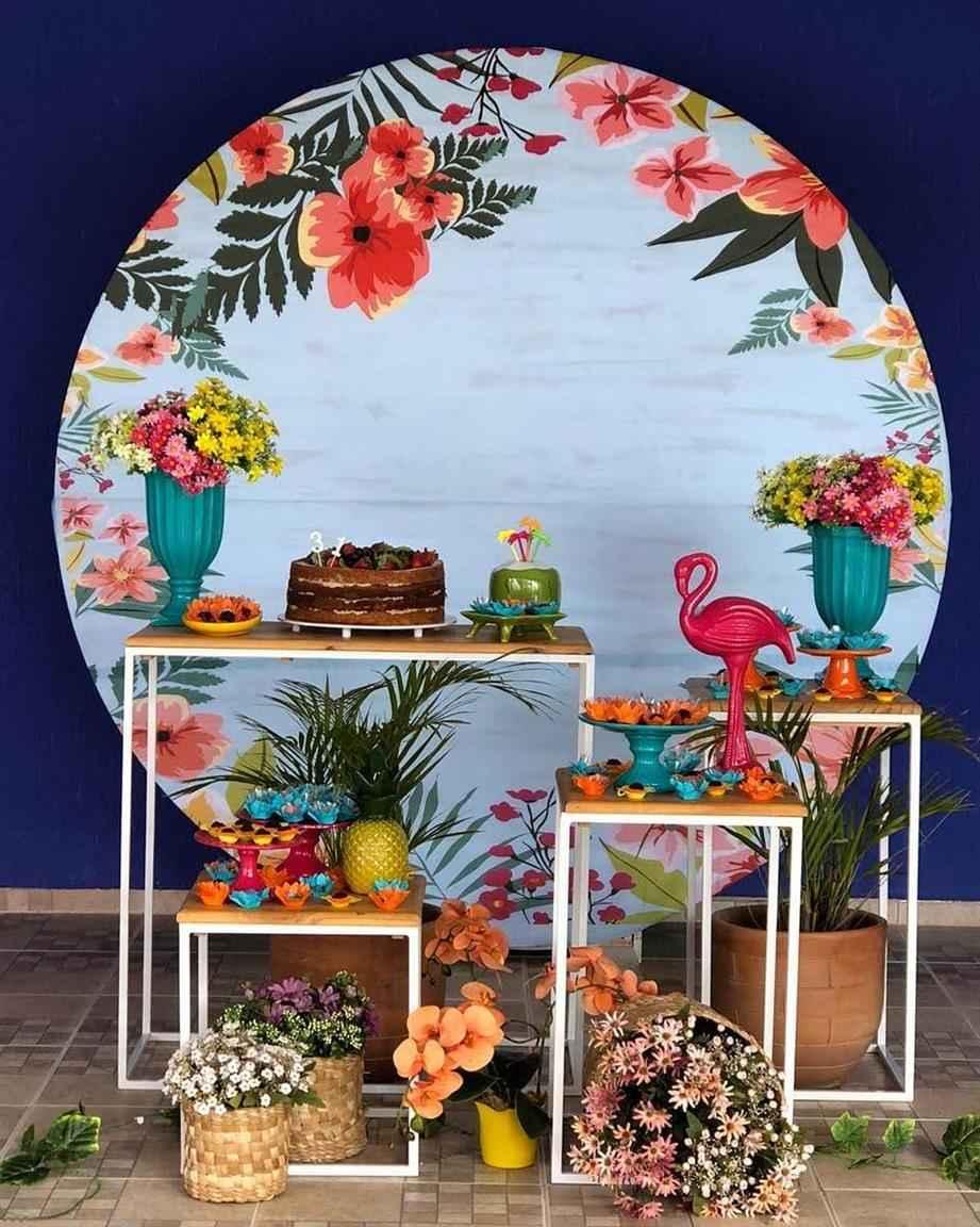 decoração limpa tropical