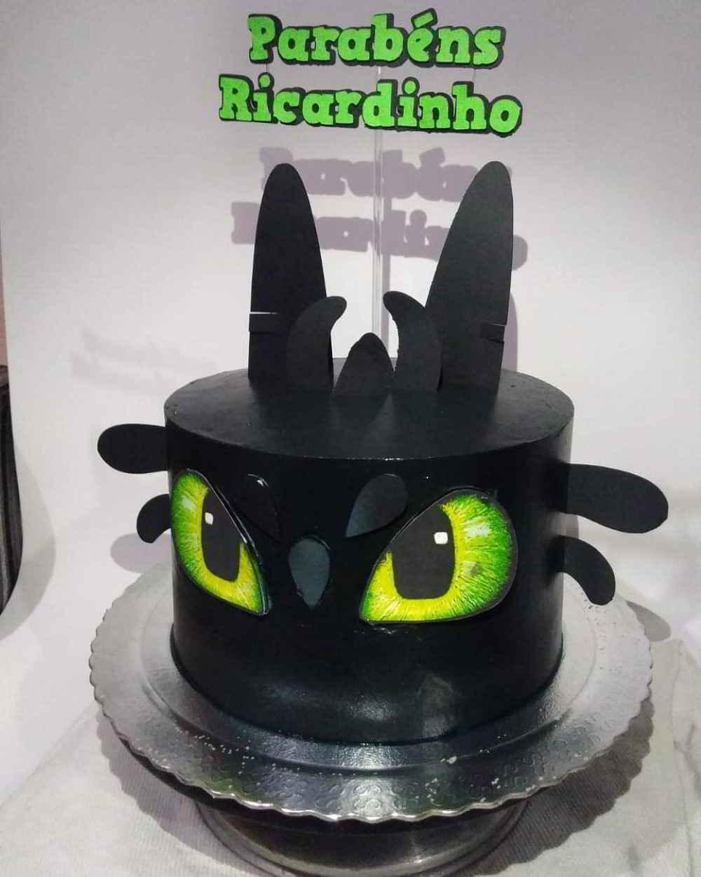 topo de bolo dragão