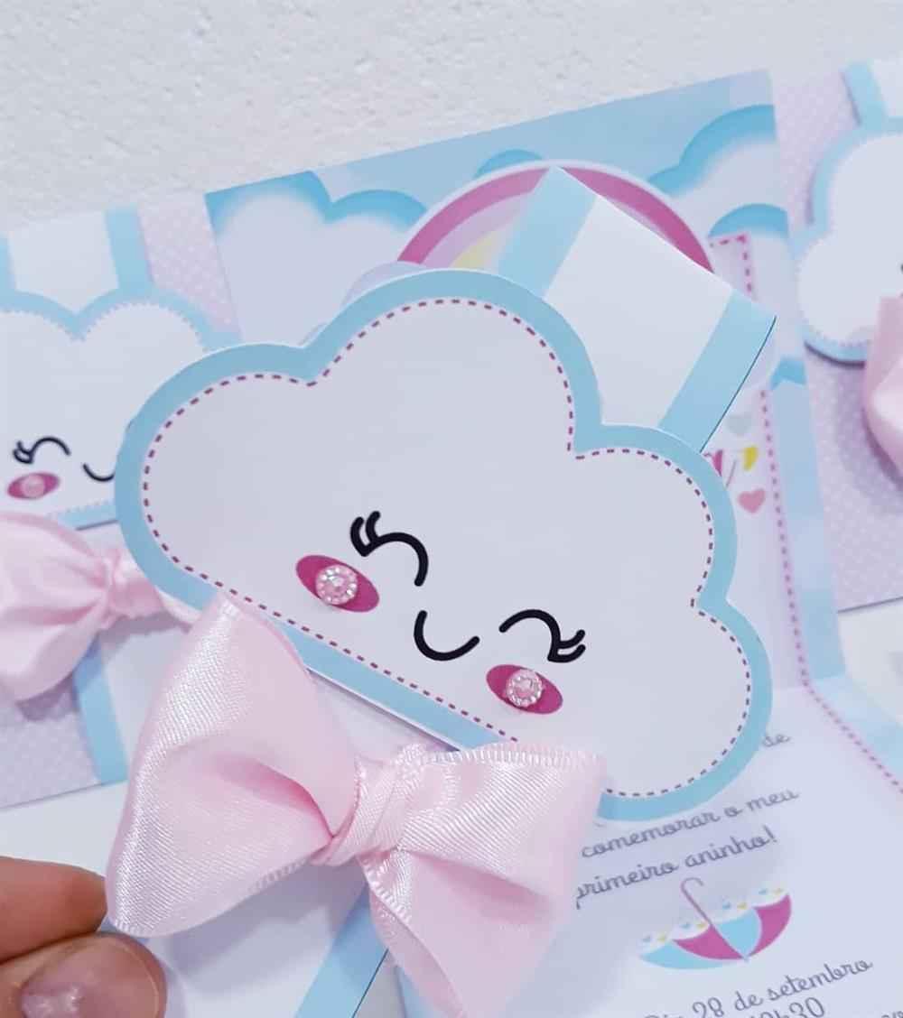 Convite de nuvem chuva de amor
