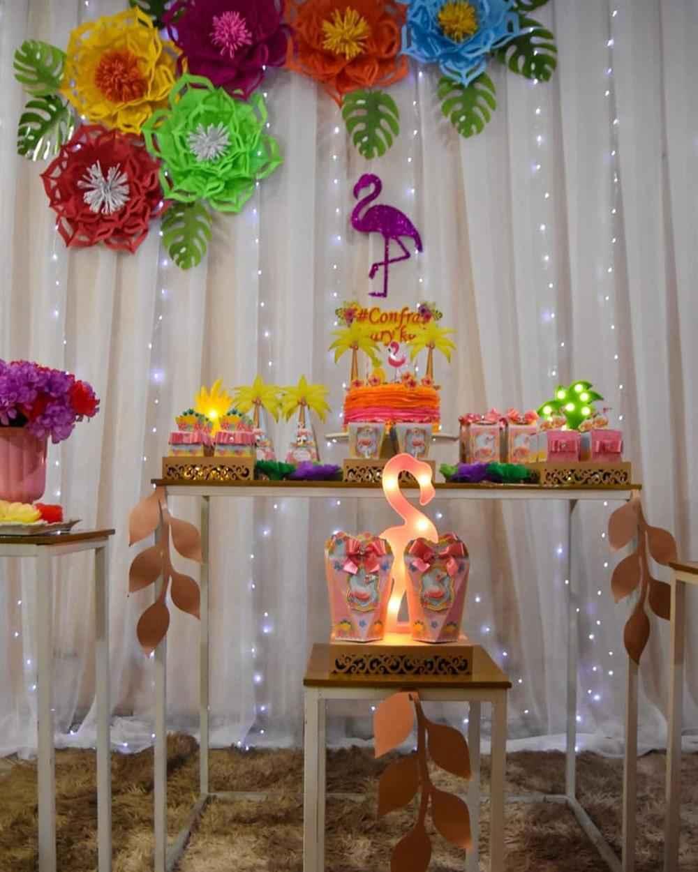 festa decorada com cortina