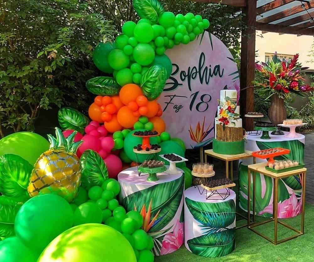 festa de aniversário tropical