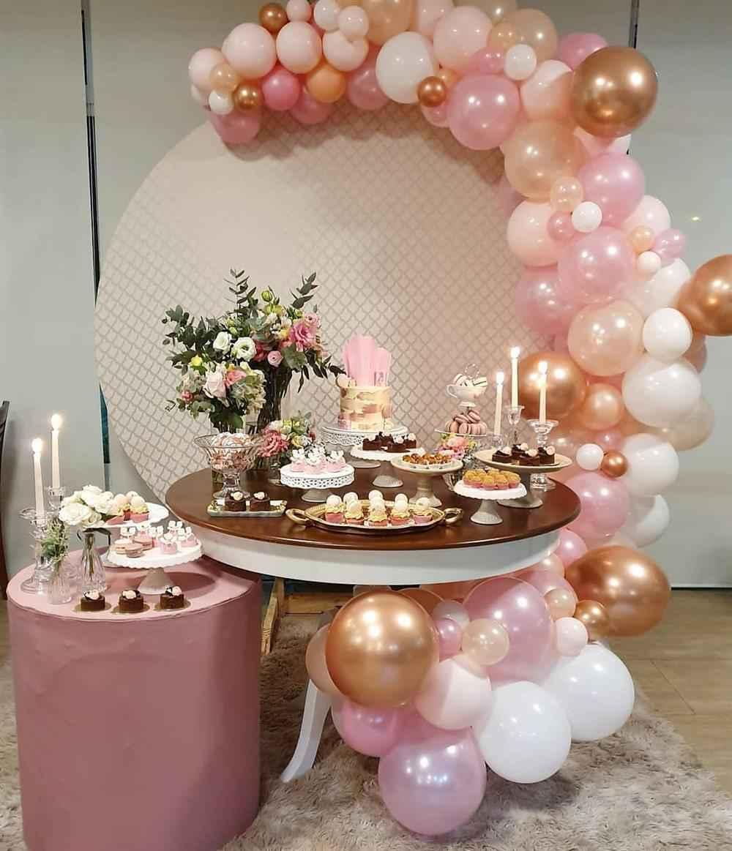festa de 15 anos rosa