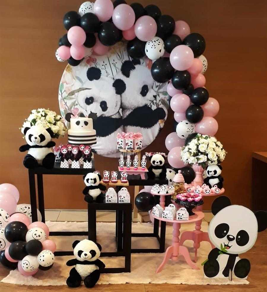 Festa panda tema feminino