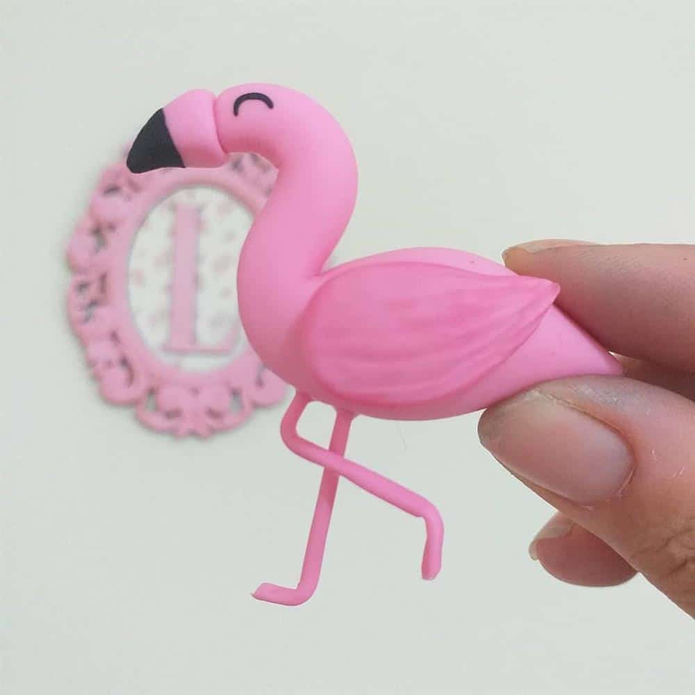 flamingo de biscuit