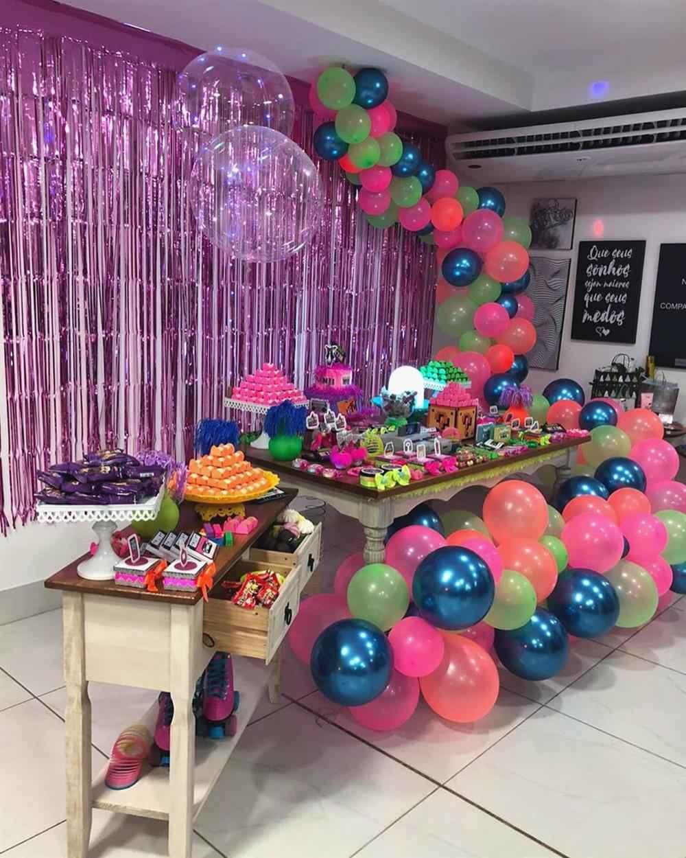 anos 90 com balões