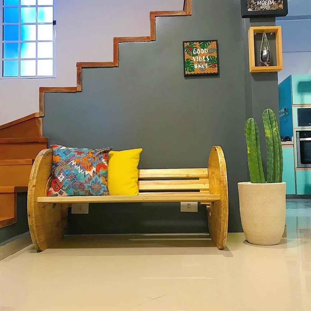sofá de carretel par SALA