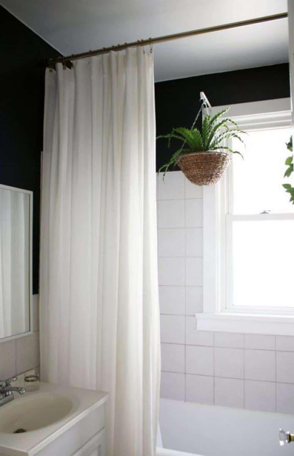 cortina para box em tecido