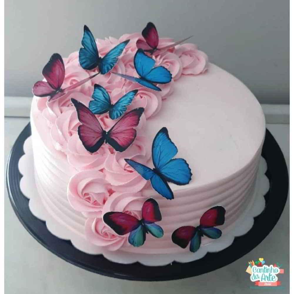 topo de bolo borboleta