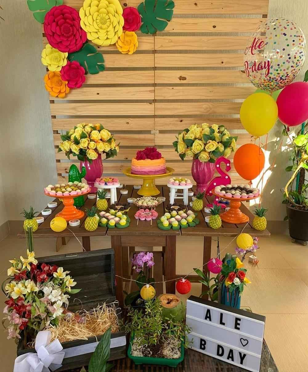 decoração tropical com pallets