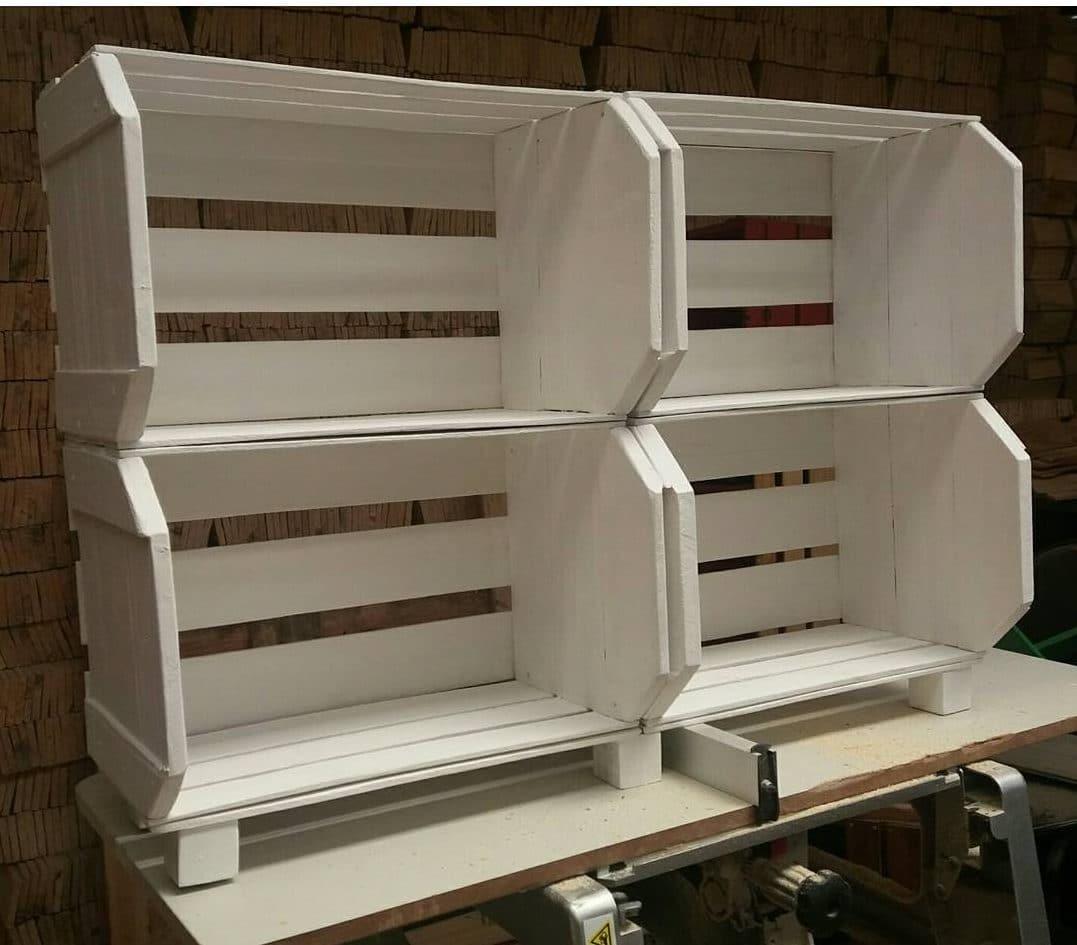 armário de caixotes branco