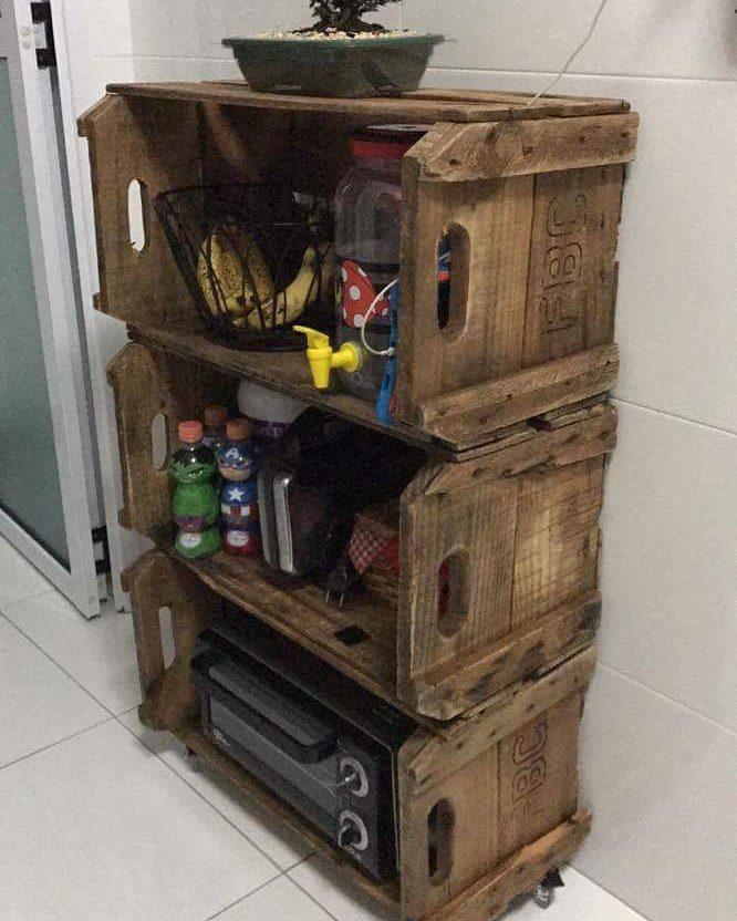 mini móvel de caixote