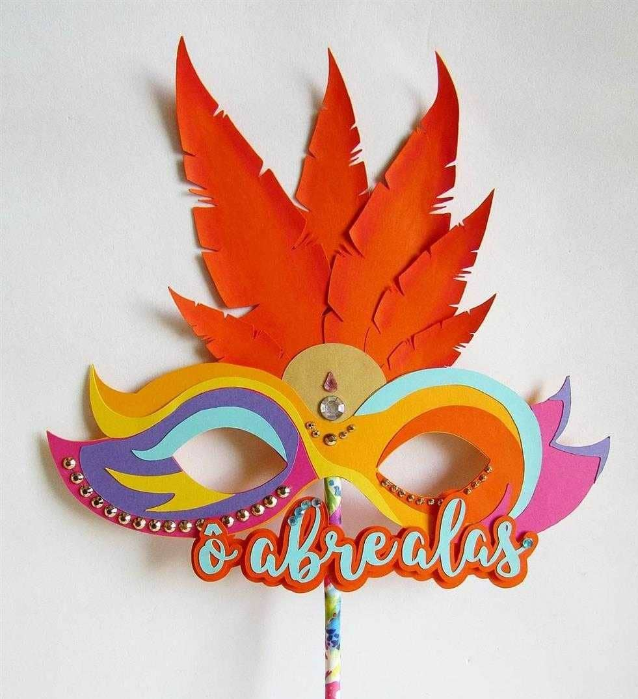 mascara de carnaval scrap