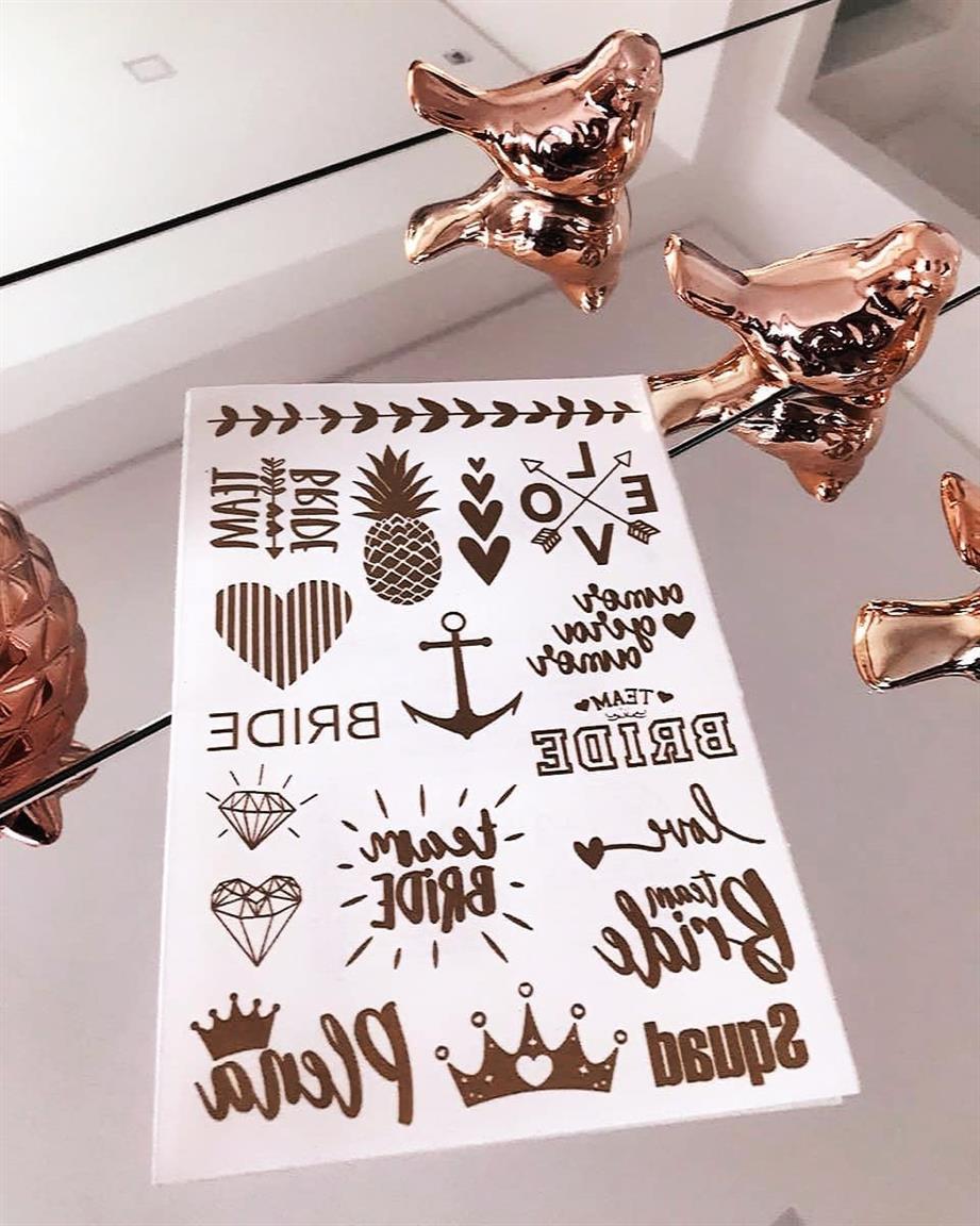 cartela de tatuagem