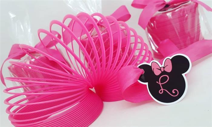 Mola de brinquedo personalizada da Minnie Rosa