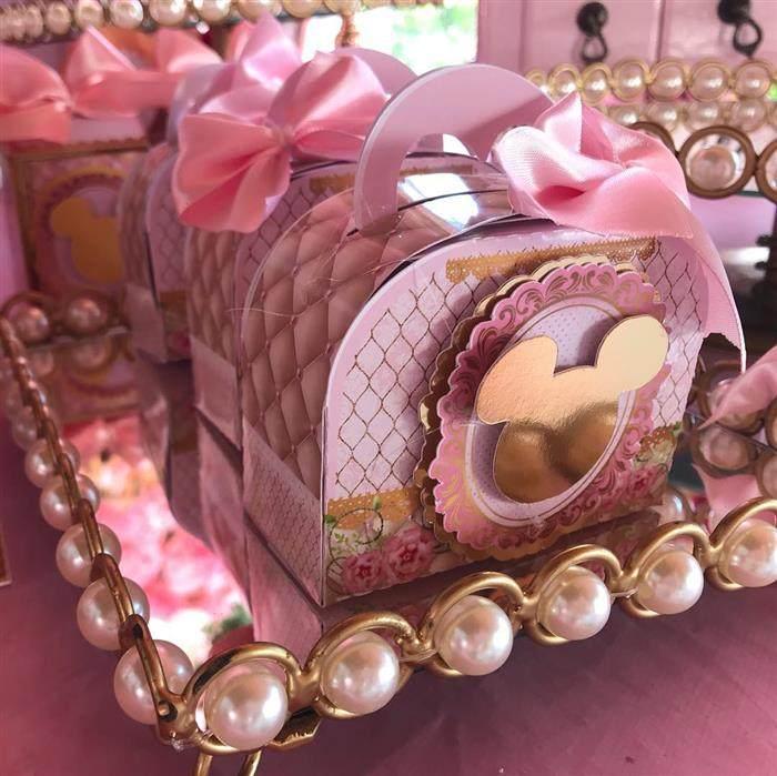 Maletinha de luxo da Minnie Rosa