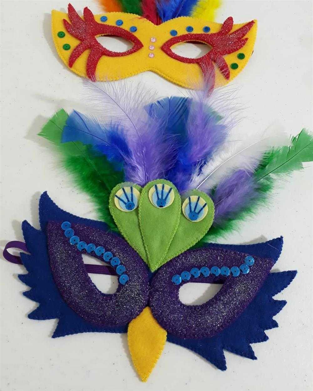 mascara de feltro para folia