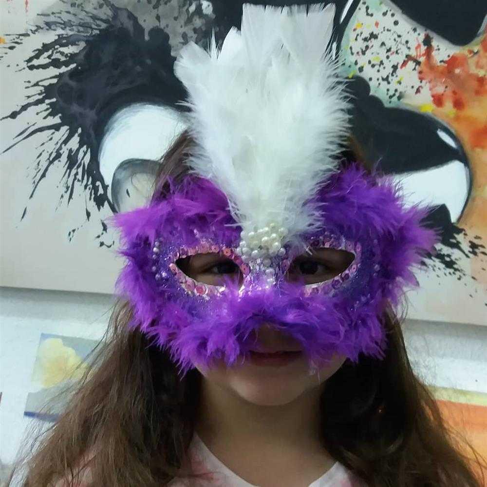 mascara infantil de carnaval