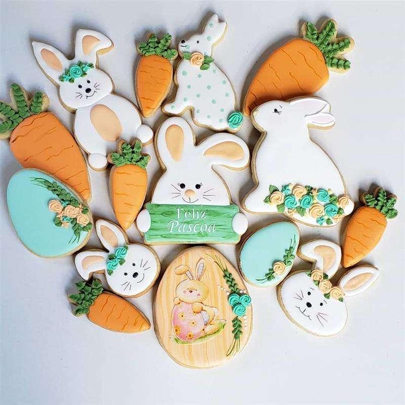 biscoitos decorados feliz pascoa