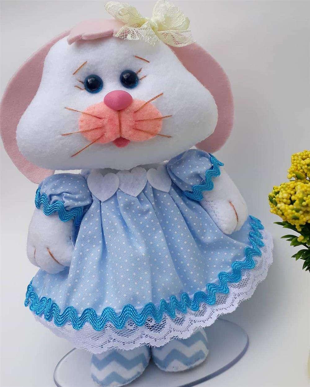 coelhinha de vestidinho ficam encantadoras