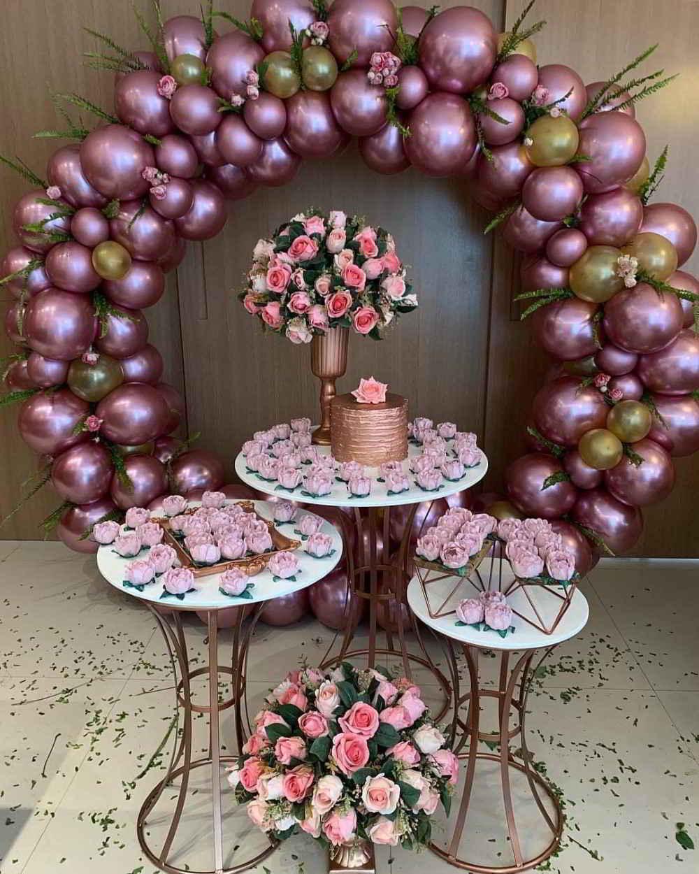 balões rosa metalizado