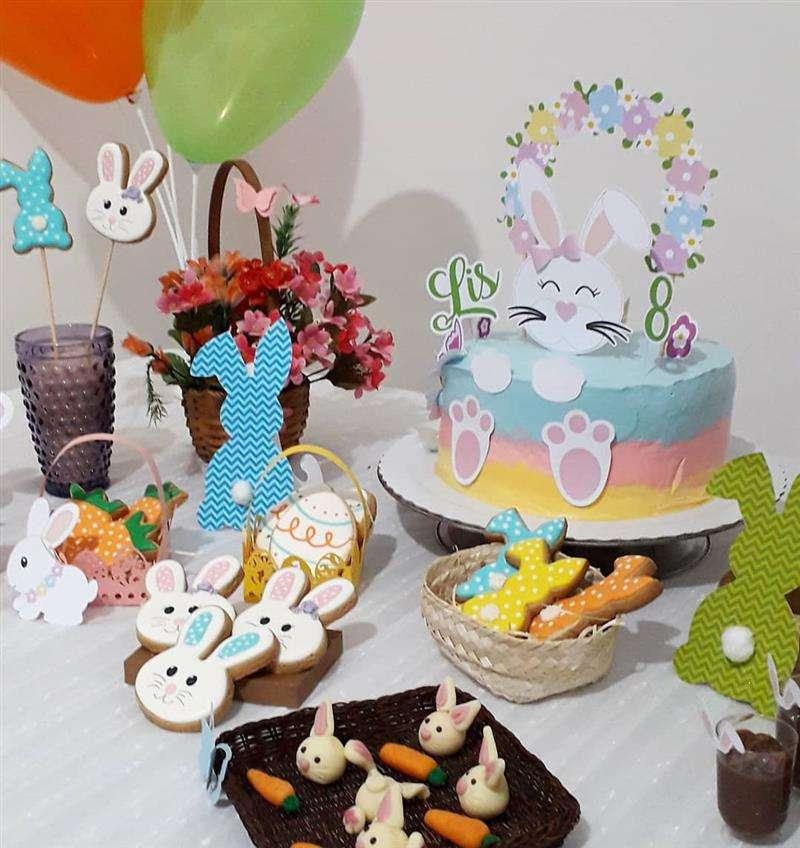 decoração de Pascoa para comemoração de aniversário
