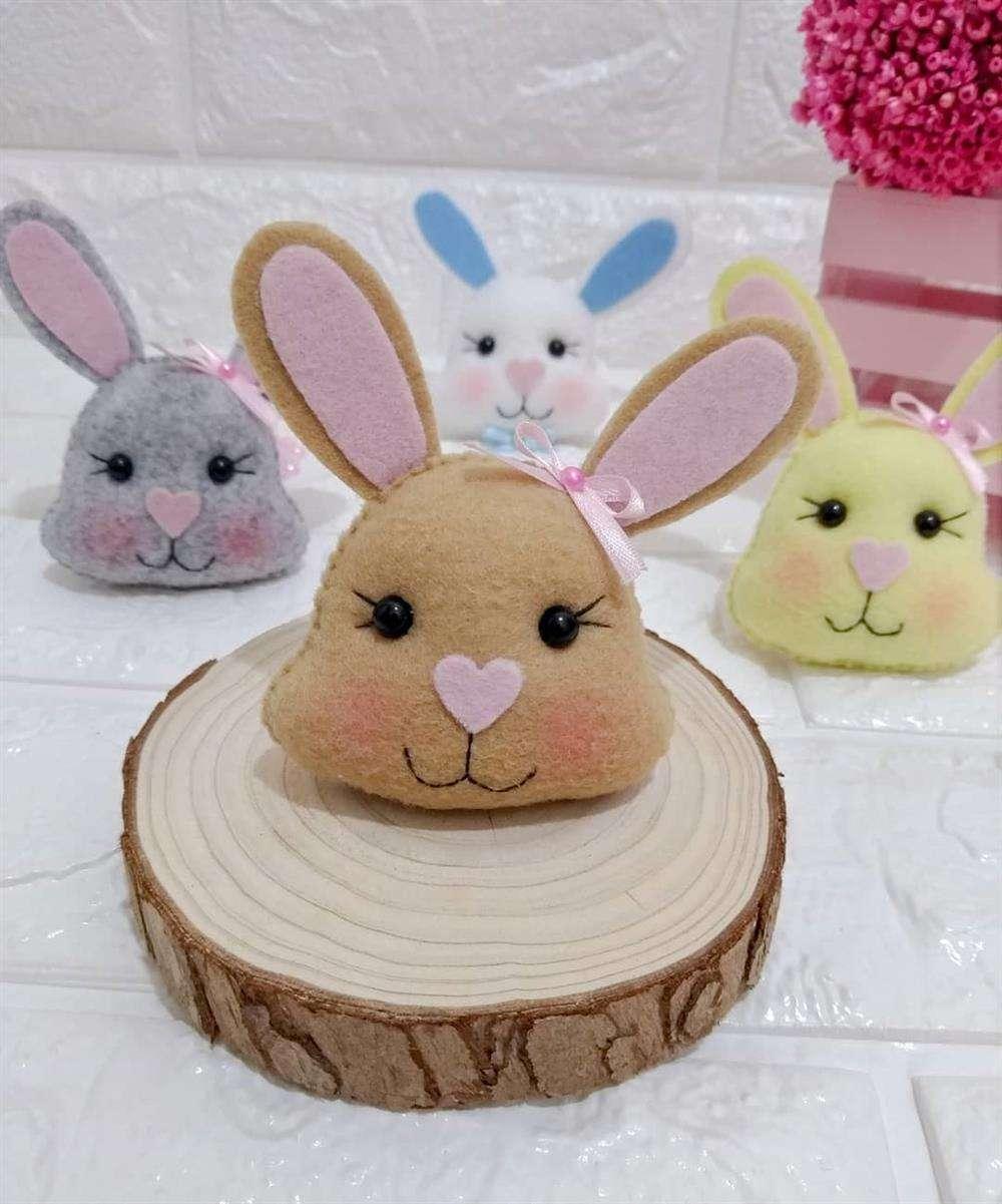 rostinho do coelho de diversas cores