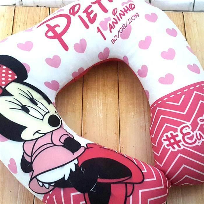 Protetor de pescoço da Minnie rosa