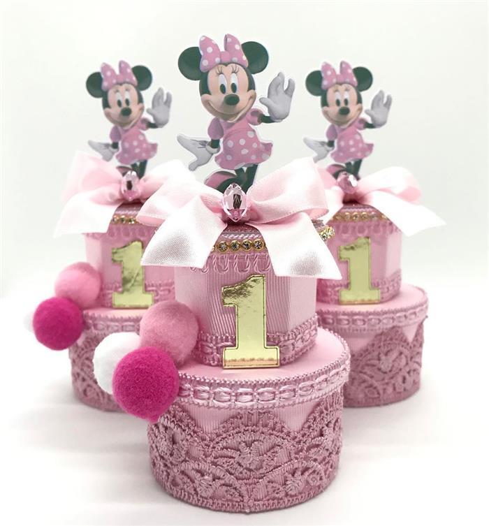 Potinhos decorados com fita