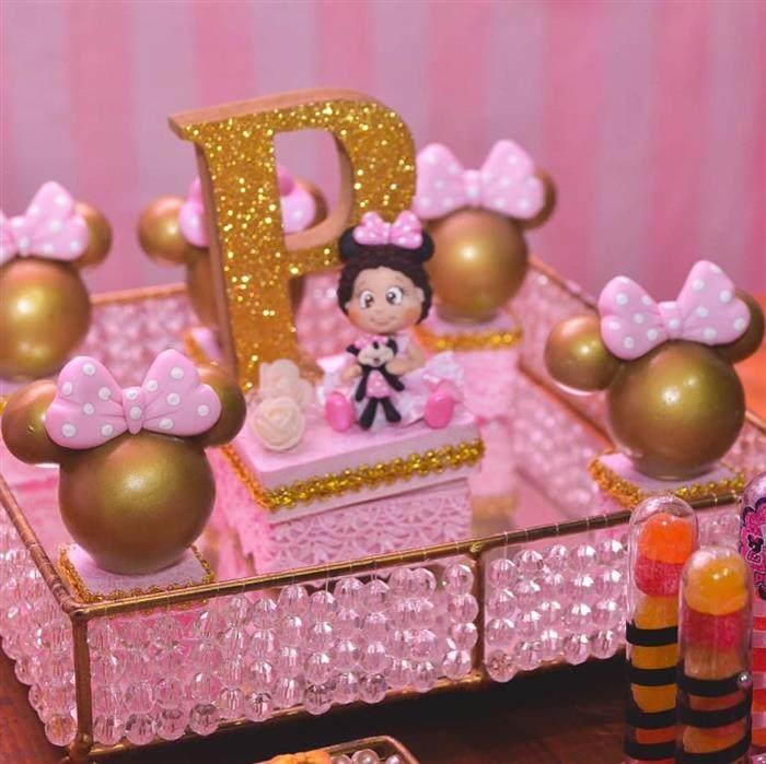 Festa Minnie luxo rosa