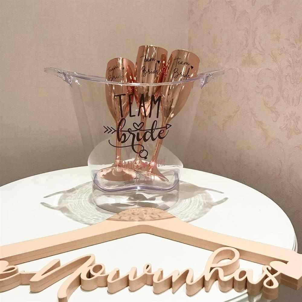 taças para noiva e amigas