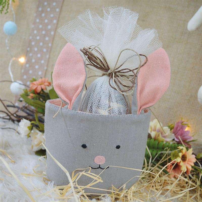 cestas de tecido para ovo de pascoa