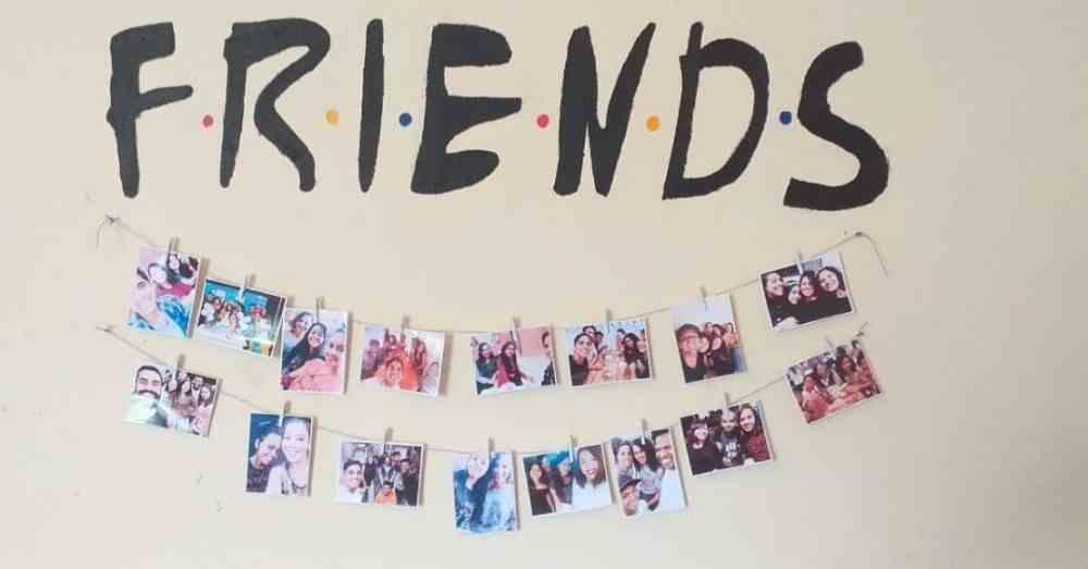 fotos com os amigos