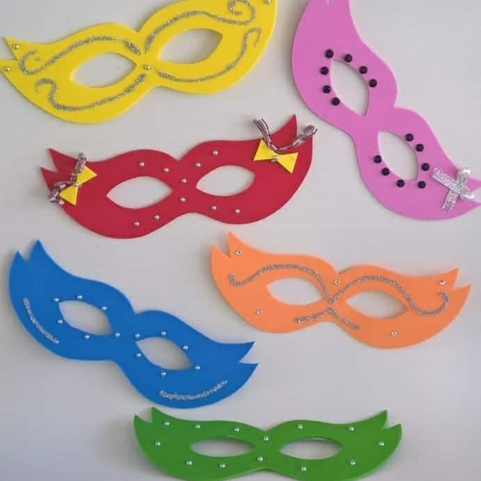 mascaras simples de eva