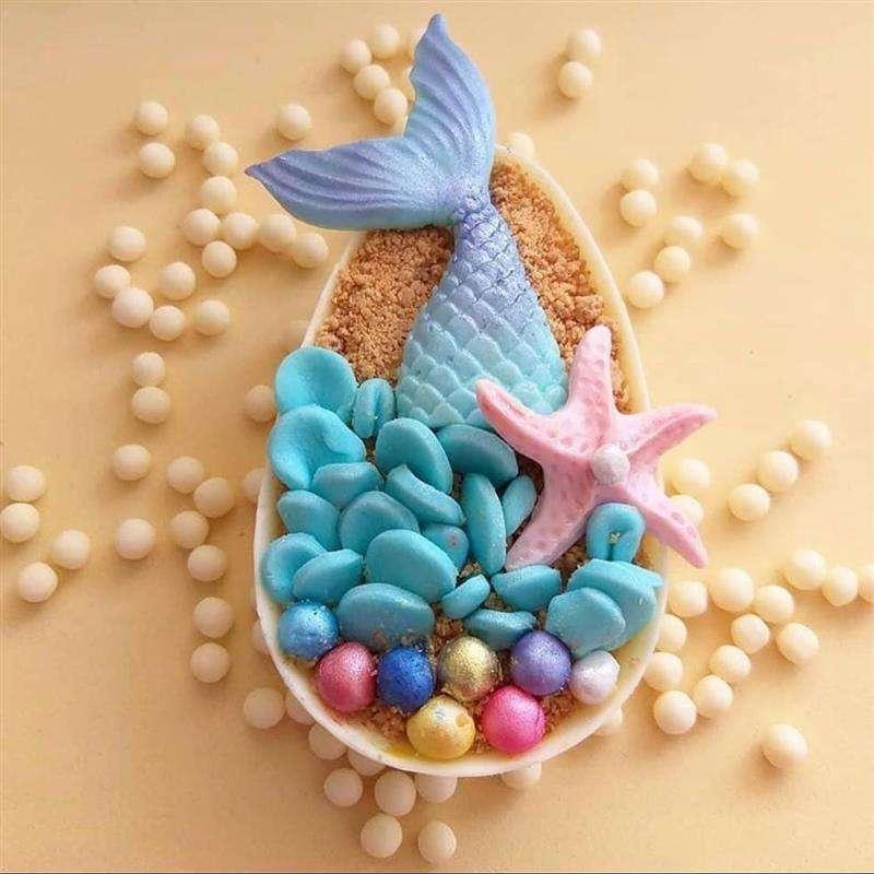 temas diferente para decoração de ovo de colher