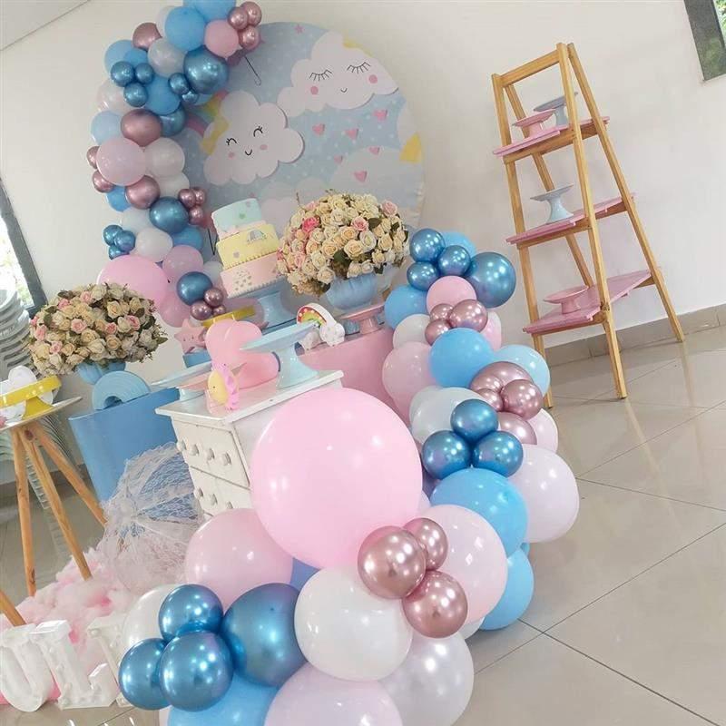 balões na decoração do seu chá de bebê