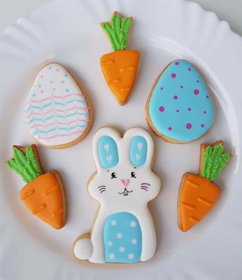 Coelhinhos, cenouras e ovinhos