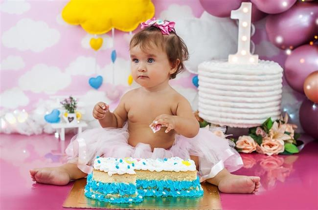 O ensaio smash the cake funciona muito bem para as meninas