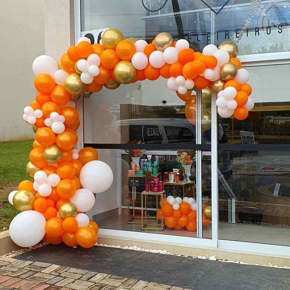 balões laranja