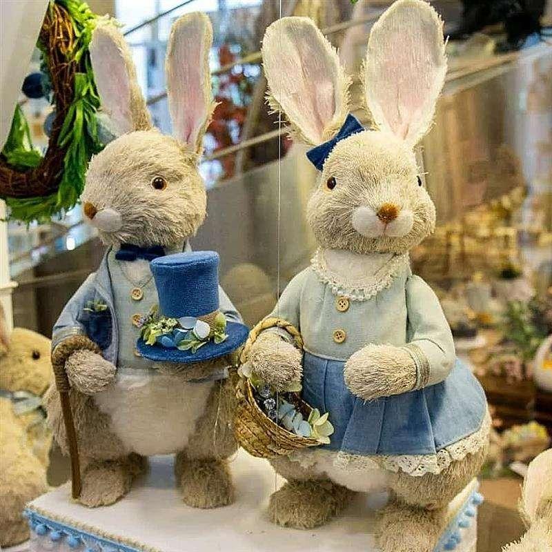 casal de coelhos para decoração de festas