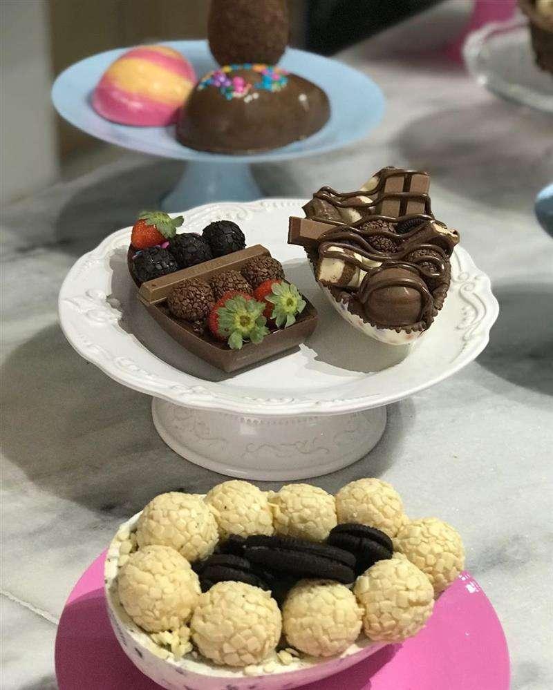 barcas de chocolate