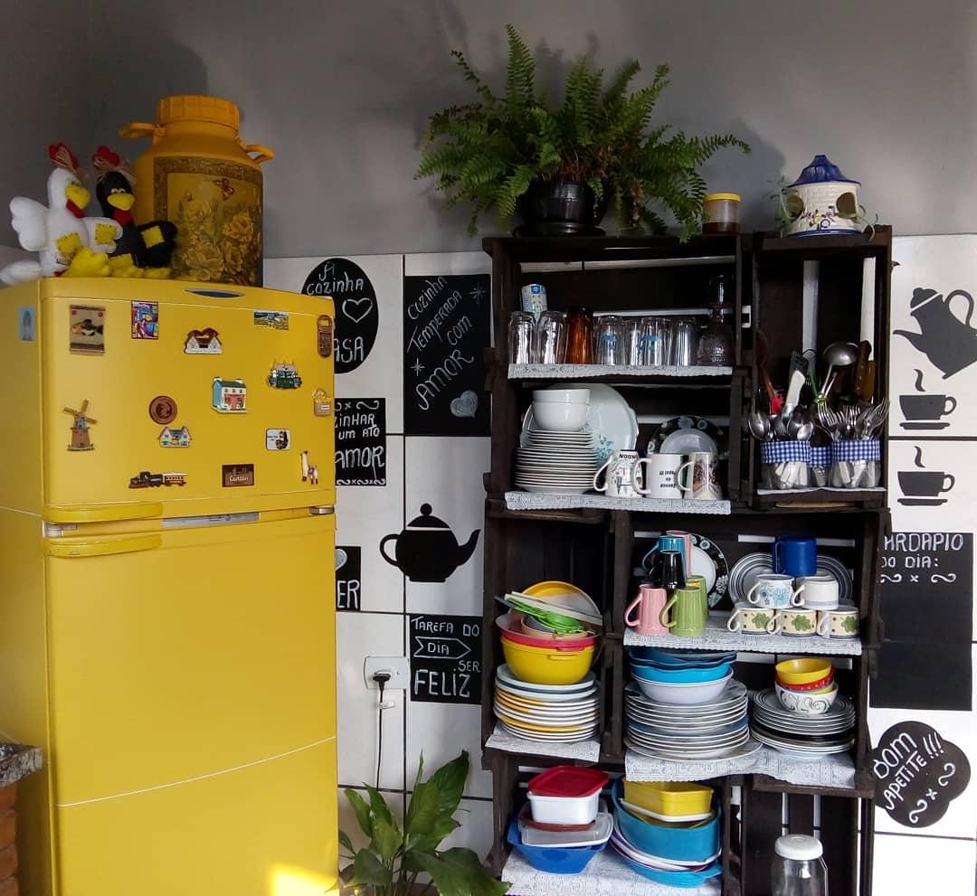 estante de caixote para cozinha