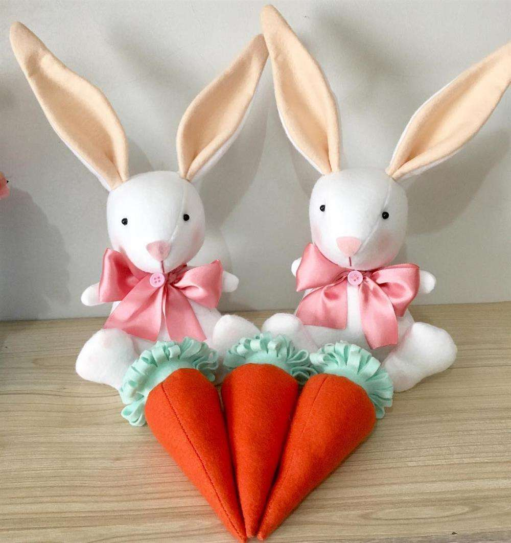 aposte na decoração com cenouras de feltro