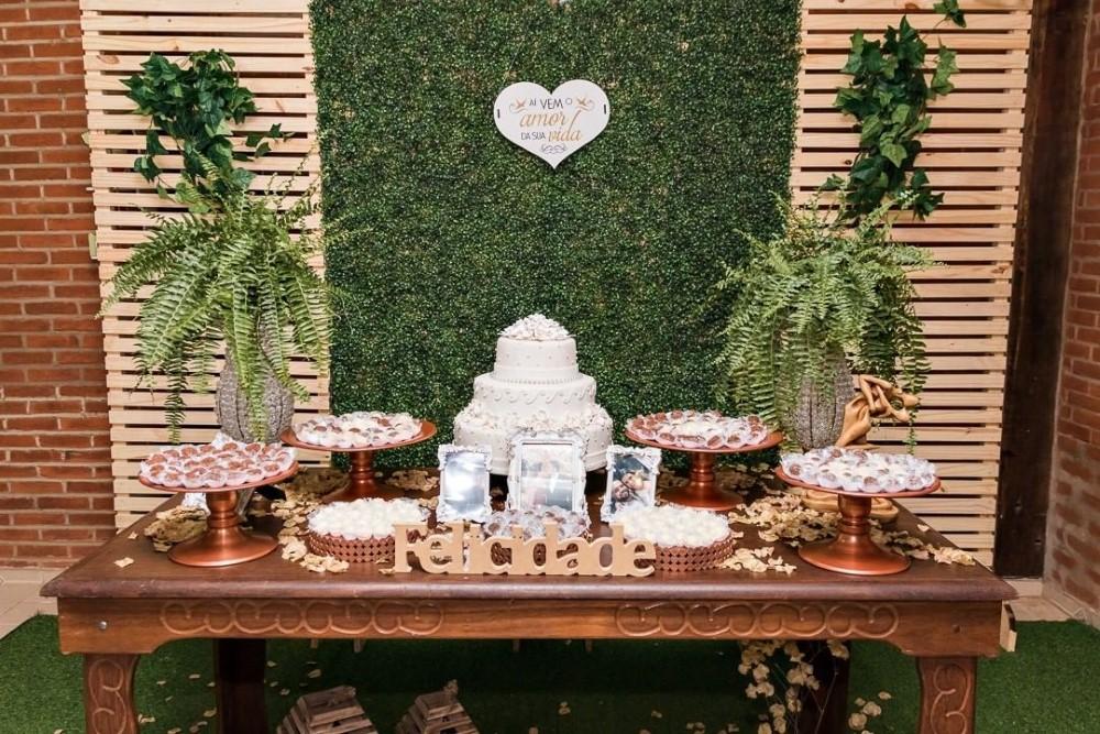 decoração de festa de noivado