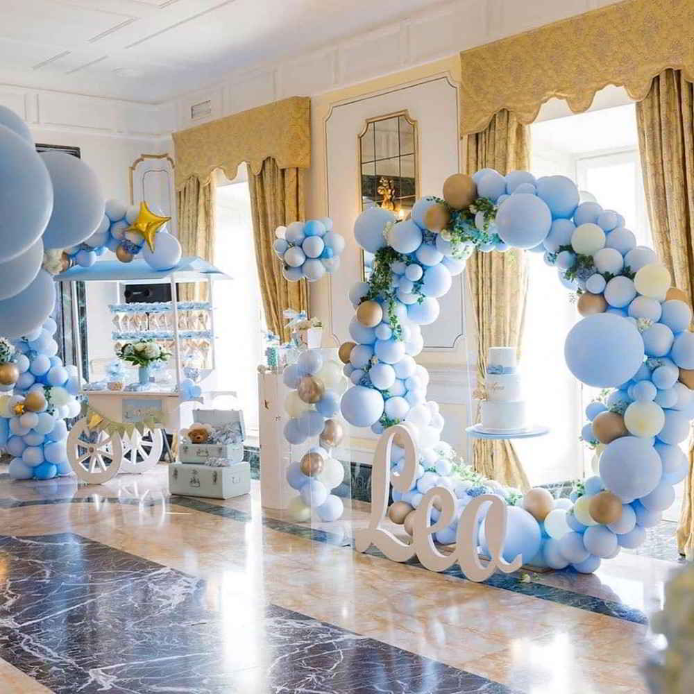 balões azuis
