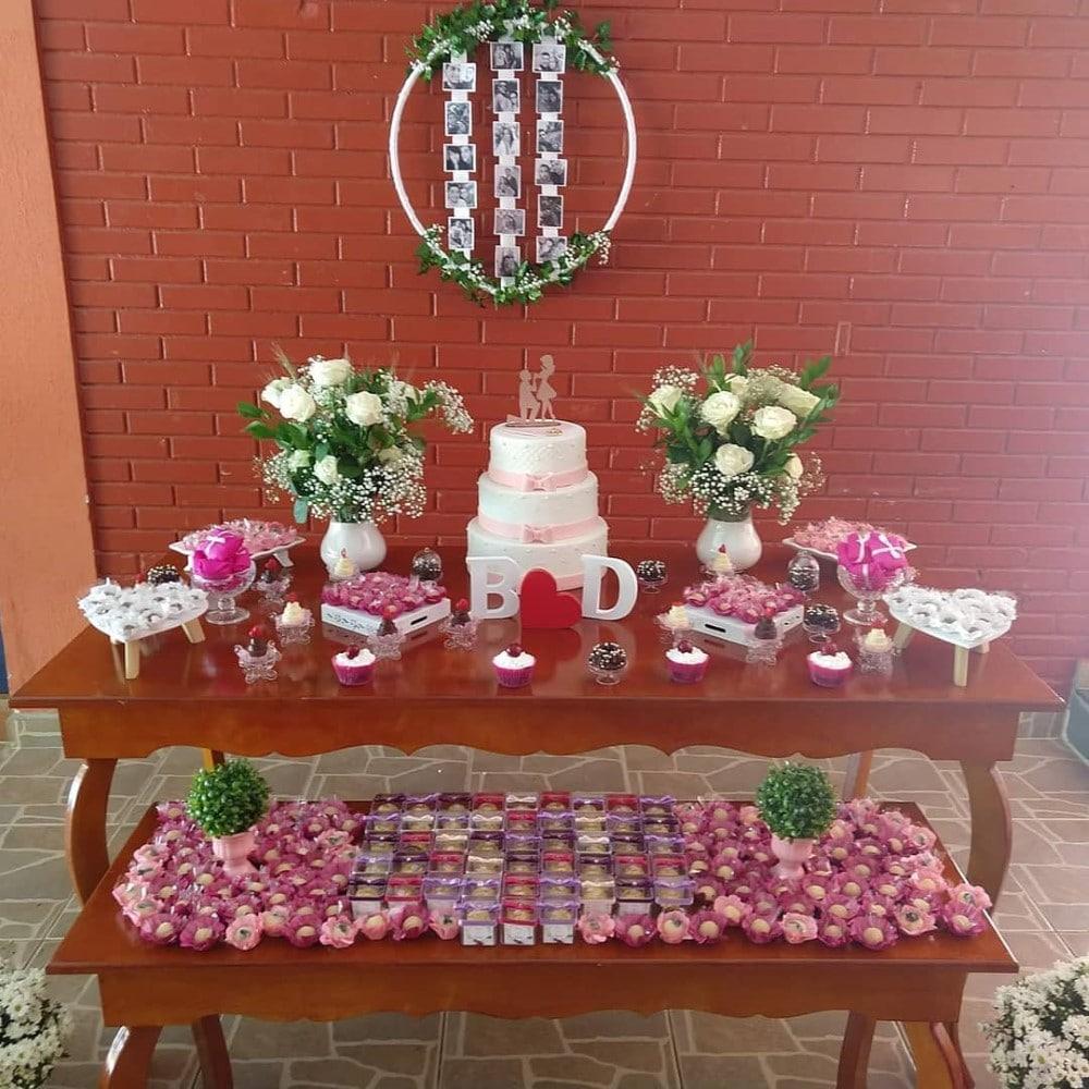 festa de noivado simples